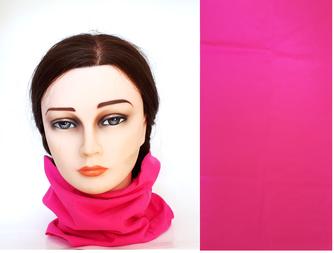 Multifunktionstuch uni pink