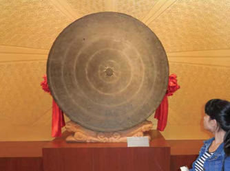 Fig. 15. GNM The biggest drum tympan (Beiliu) ever discovered (D165 cm).