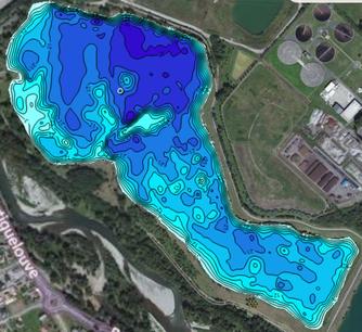 carte des fonds du lac IKTUS Carpe