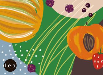 illustration assiette de fruits d'été