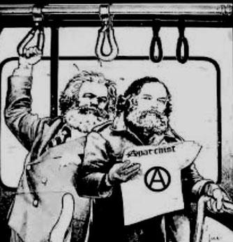 Marx og Bakunin - 1. Internationales mest markante personligheder - og konkurrenter