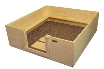 Wurfbox 120x120 mit Vlies von welpen-wurfkiste.de für z.B. Bullterrier, Dalmatiner, Border Collie und Australian Shepherd