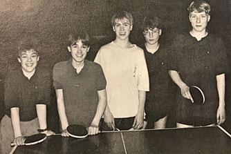 1. Schülermannschaft: Saarlandmeister 1991 | Bender, Menzner, Geschwister Wagner