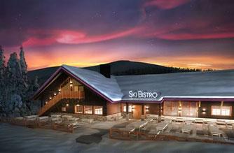 Massivholzhaus - Ski Bistro im Blockhaus