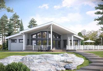 Holzhaus - Architektenhaus - Wohnblockhaus  122T