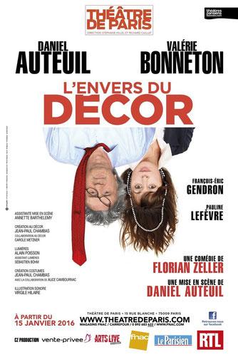 affiche, l'envers du décor, théâtre de paris