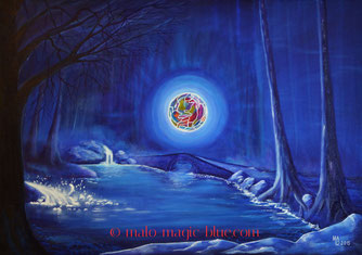 MaLo 2015 * ENERGY * Original Acrylbild auf Keilrahmen 70 x 50 cm, € 130,--