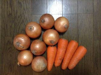☆主催者様からスタッフ全員に野菜のお土産をいただきました。