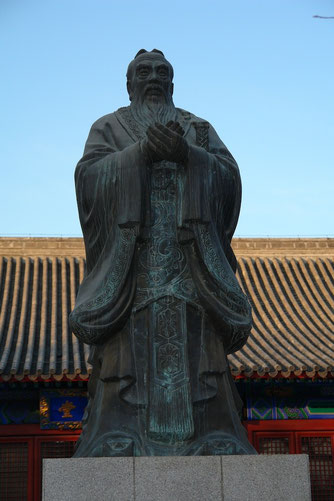 Konfuzius-Statue im Konfuzius-Tempel, Peking