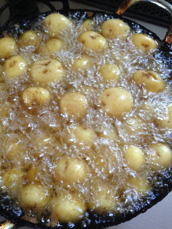 新ジャガ小芋の味噌炒め