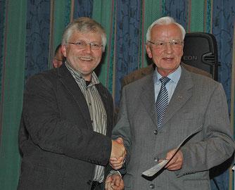 NABU-Landesgeschäftsführer Hartmut Mai und Wolfgang Lübcke