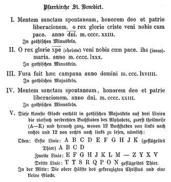 Glockenverzeichnis von 1882