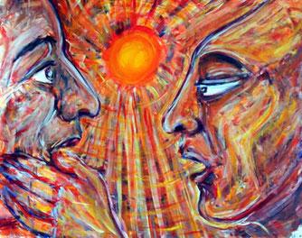 Erster Kontakt einander fremder Menschen und Kulturen