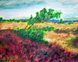 Landschaft, Insel, Meer, Pflanzen, Horizont, Himmel, Wolken, Farben