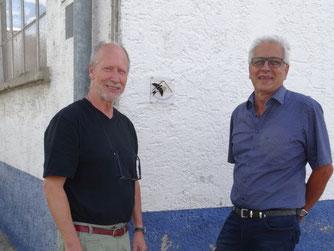 Vorsitzender Herbert Fuchs und Josef Kurz (Foto: Jürgen Müller)