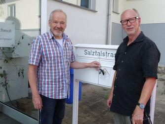 Gustav Schmoll und Vorsitzender Herbert Fuchs (Foto: Jürgen Müller)