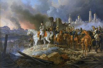 Incendie de Moscou en 1812 - Tableau d'Adam Albrecht.