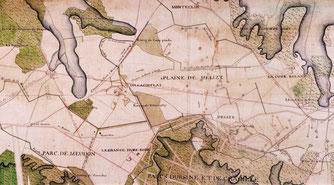 Carte de la zone de combat à Vélizy.