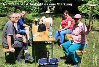 Die Aktiven - Harald, Karl-Heinz, Frank, Wolfgang, Ruth und Cornelia
