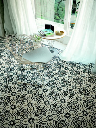 Cement tiles made in the usa tile lines for Blue and white cement tile
