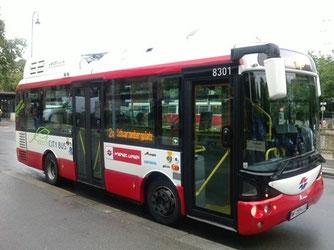 ウィーンの電気バス