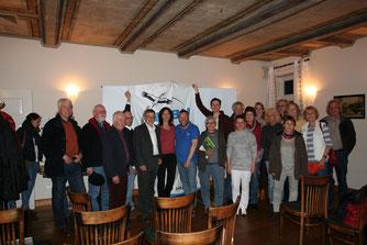 Vorstand des NABU Dötlingen; rechts Rolf Grösch, NABU Oldbg. Land
