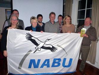 Beim Gründungstreffen des NABU Elsfleth...