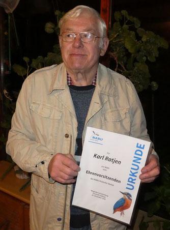 Karl Ratjen wurde zum Ehrenvorsitzenden gewählt
