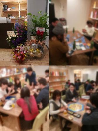広島ボードゲームカフェcoast 店内の様子