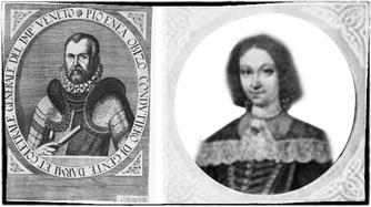 Pio Enea e la moglie Lucrezia Dondi