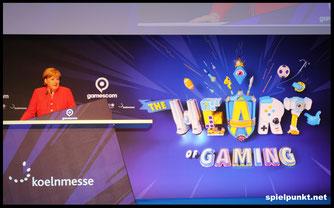 Bundeskanzlerin Angela Merkel eröffnet Gamescom 2017