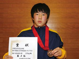 団体戦のポイントゲッター斉藤浩司(太田商)
