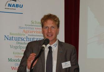 NABU-Landesvorsitzender Holger Buschmann freut sich über die Kooperation