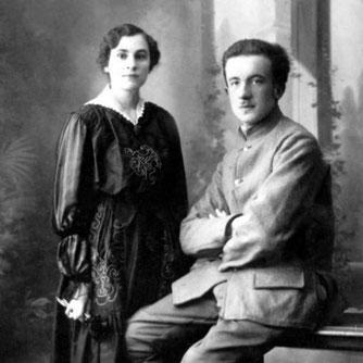 Гала и Поль в 1917