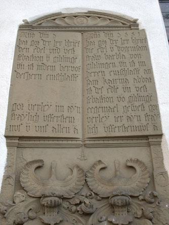 """""""Platzhalter"""" auf einem Grabstein in Pfäffingen. Bild: © Inschriftenprojekt Ammertal."""