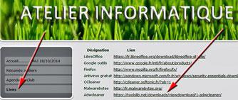 """Site info - Rubrique """"liens"""""""