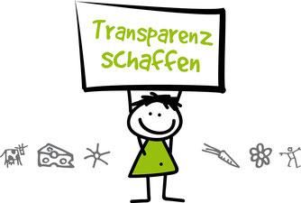 Logo Transparenz schaffen. Urheber: Transparenz schaffen