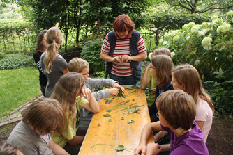 Kinder beim Wiesenprogramm des NABU Woldenhofs