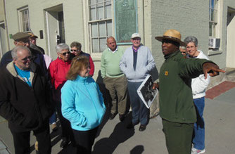 Park Ranger Rufai Conducting our Walking Tour of the City