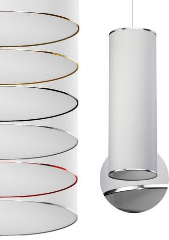 LM Lampen Hersteller aus Deutschland bietet einmalige Designs an Lampenschirme und Leuchten. Randabschlüsse wahlweise an jeder Leuchte frei wählbar