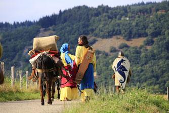 Itinérance médiévale lors de la fête médiévale de La Cocadrille à Saint Bertrand de Comminges
