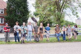Teinehmer der Exkursion in die Wagbachniederung am 02. Juni 2018 (Foto: B. Budig)