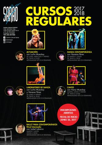 Afiche de los Cursos Regulares. Fotos de Amaury Martínez y Cortesía. Diseño Eduardo Correa.