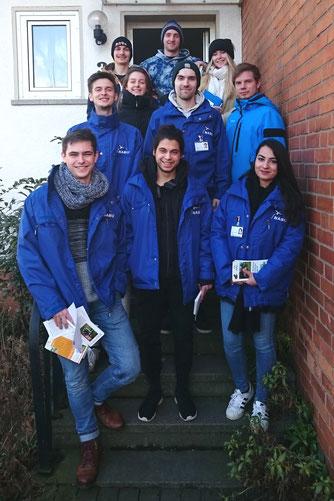 Das Werbe-Team, das in den nächsten Tagen in Rinteln unterwegs ist. - Foto: Britta Raabe
