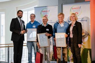 V.l.nr. Olaf Lies, Dr. Nick Büscher, Dietmar Wonneberger, Reinhard Meier, Sigrid Rakow. - Foto: Bingo-Umweltstiftung