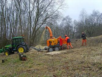 Auch der Schredder der Stadt Rinteln war wieder im Einsatz. - Foto: Kathy Büscher
