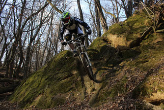 Downhill Mountainbike Wald Stuttgart