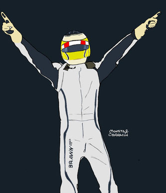 Jenson Button by Muneta & Cerracín