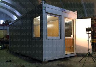 Блок-модуль с тремя окнами