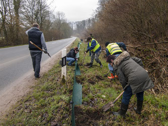 Aktive Naturschutzarbeit von ehrenamtlichen Mitgliedern. - Foto: Kathy Büscher
